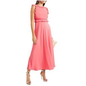 Red Valentino pink crepe studded dress NWT